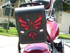 Custom Motorcycle Sissy Bar Bag Motorcycle Toolbag by TaurusSeats
