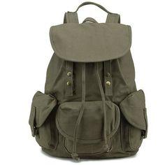 Rivet Embellished Backpack (115 PEN) ❤ liked on Polyvore featuring bags, backpacks, rivet bag, knapsack bag, rucksack bags, daypack bag and day pack backpack