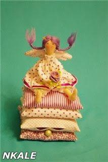 Muñeca de trapo: princesa y el guisante - paso a paso
