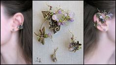 """Ear wrap and ear cuff """"Spring in the Mirkwood"""" 