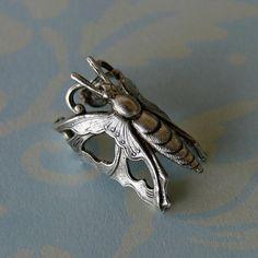 filigree butterfly ear cuff steampunk no piercings needed