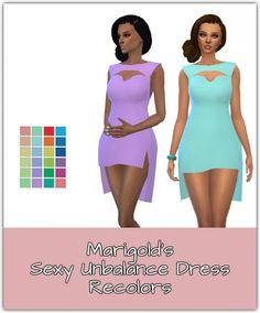 Unbalance Dress Recolors at Maimouth Sims4 via Sims 4 Updates