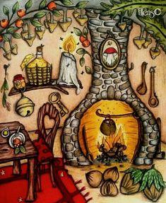From Klara Markova's gorgeous coloring book -  Carovne Lahodnosti