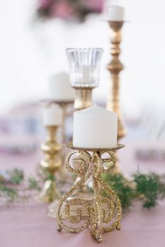 Reception Table Decor Gold Glitter Candle Holders | Detriot-Lakes-Minnesota-Wedding-Photographer-Destination-Wedding