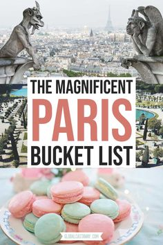 The most mgnificent Paris bucket list. Join me on a visual trip around the very best landmarks in Paris and get plenty of ideas to prepare your own Paris bucket list of adventures. Eiffel Tower, the Louvre, macarons and eclairs, a magnificent dream! Paris Travel Tips, Europe Travel Guide, Backpacking Europe, France Travel, Travel Destinations, European Vacation, European Travel, Romantic Vacations, Romantic Travel