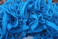 Electric Blue Ruffled Scarf