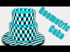 Optical Illusion Geometric Cake Tutorial by Cookies Cupcakes and Cardio - YouTube