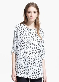 Fish print blouse