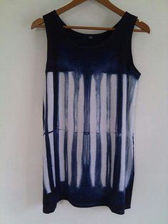 Tank top, shibori technique
