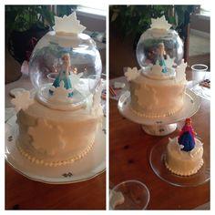 Frozen snow globe  cake