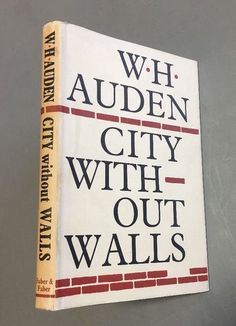City Without Walls by W. H. Auden (1969) with Dust Jacket