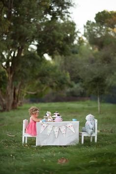 18 month tea party shoot - could man it up a little for boys too....