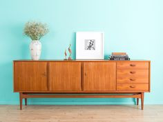 Eiche Highboard, Sideboard, Kommode, danish design von MID CENTURY ...