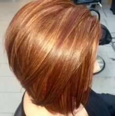 Short Hairstyle, Bob Hairstyles, Haircuts, Copper Hair, Long Bob, Cut And Style, Bob Cut, Bobs, Long Hair Styles