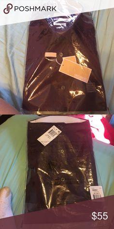 Men Michael Kors long sleeve shirt Regular fit, 18 1/2 , 36/37 , non iron, Maroon long sleeve, never been worn in very good condition. MICHAEL Michael Kors Shirts Casual Button Down Shirts