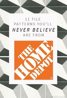 11 Tile Patterns You'll Never Believe Are From Home Depot (Vintage Revivals) Decorating Your Home, Diy Home Decor, Entry Tile, The Tile Shop, Beautiful Bathrooms, Tile Patterns, Getting Organized, Home Depot, Floor Rugs