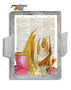 Smiling Howl Original Studio Ghibli Inspired Print on an Unframed Upcycled Bookpage from PrudencePrint
