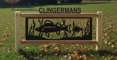Give your friends and visitors a hearty welcome with the decorative Clingermans Personalized Log Wildlife Sign. Driveway Sign, Outdoor Ideas, Outdoor Decor, Gate Ideas, Entrance Gates, Pond, Deer, Wildlife, Cabin