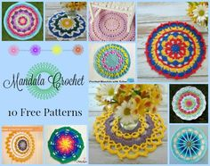 10 free beautiful mandala patterns. These would make lovely wall hangings. They would also look great on your tables in your home. So easy to change out new colors or seasons too.
