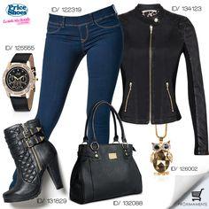 #outfit #fashion #glam #jeans #Vivelamoda #PriceShoes #trendy  Pídelo aquí → http://tiendaenlinea.priceshoes.com/