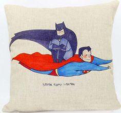 >> Click to Buy << Superman pillow cover, creative superhero Justice League superman batman cartoon throw pillow case pillowcase wholesale #Affiliate