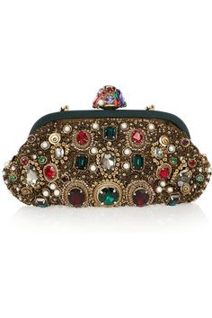 Dolce Gabbana Jewel and pearl embellished clutch 3