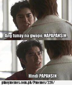 Ang tunay na gwapo. Hugot, Tagalog, Pinoy, Naruto Uzumaki, Happy Quotes, Haha, Random, Memes, Pictures