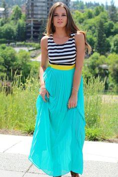Splash Black Striped Chiffon Maxi Dress