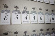 Striped Escort Cards