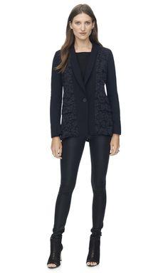 Rebecca Taylor corded lace blazer