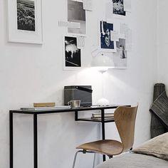 Ikea 'Vittsjö' desk & Arne Jacobsen chair @evalottasundling