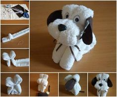 (1) DIY All Things - How to make a Cute Puppy with a Towel