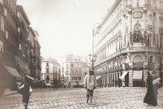 Madrid 1900 - Alcalá esquina a la calle Sevilla