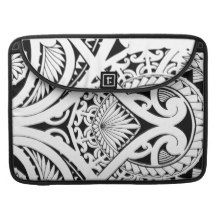 mixed polynesian maori tribal tattoo coconut leaf sleeves for MacBook pro
