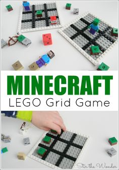 The Minecraft LEGO Grid Game is a fun, screen-free, hands-on way for young gamers to learn early math skills!