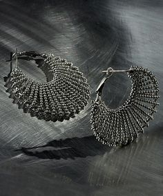 Love this Silver Chain Hoop Earrings on #zulily! #zulilyfinds