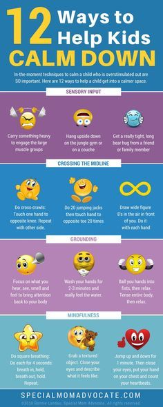 12 Ways to a Help Kids Calm Down