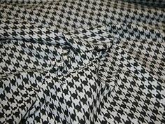 Black/Grey Dogtooth Ponte Roma Jersey Designer Dress Fabric - per metre Preview