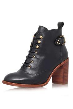 **Black High Heel Lace Ups by KG Kurt Geiger - Shoes- Topshop Europe