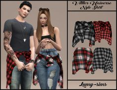 lumy-sims: Vittler Universe Nylo Shirt Ring Category Works with Sims 3, Sims 4 Cas, Sims 4 Game Mods, Sims Mods, Sims 4 Mods Clothes, Sims 4 Clothing, Vêtement Harris Tweed, The Sims 4 Bebes, Vetements Clothing