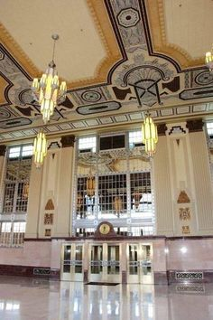 Pacific Railway Station, Fort Worth Texas - source Art Deco.