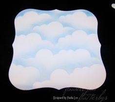 Simply Sassy: Simple Chalked Cloud Tutorial