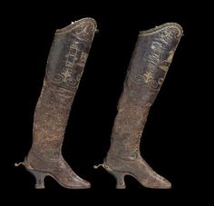 Pair of woman's riding boots  European, about 1890