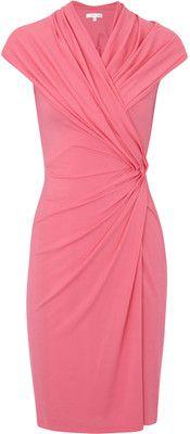 Paule Ka Gathered Stretch Crepe Jersey Dress