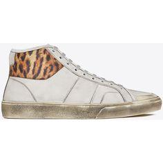 Saint Laurent Signature Court Classic Surf Sl/37M Sneaker ($385) ❤ liked on Polyvore featuring men's fashion, men's shoes, men's sneakers, shoes and yves saint laurent mens shoes
