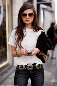 Cowboy Couture belts are a great accessory to make a plain outfit a statement outfit!