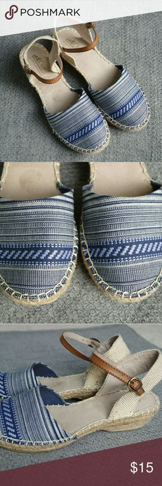 Cliffs by White Mountain Blue Espadrilles Only worn once and very good condition. white mountain  Shoes Espadrilles