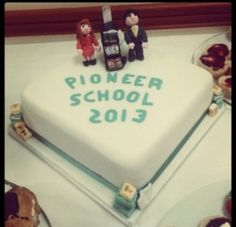 Pioneer school cake. I Would love to see this when I go to pioneer school next month