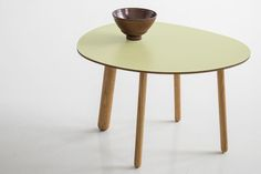 Morris coffee table model 1 in matte pale green