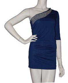 One Sleeve Embellish Top -  on @ClozetteCo